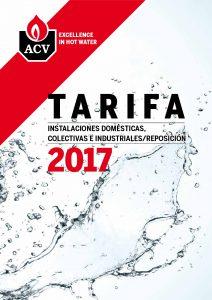 ACV Tarifa 2017 Calderas